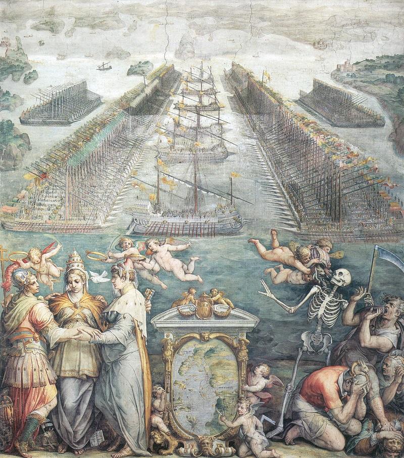 Flotte contrapposte a Lepanto Vasari RED