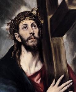 Gesù caricato della croce.