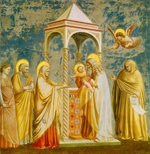 giotto presentation in the temple