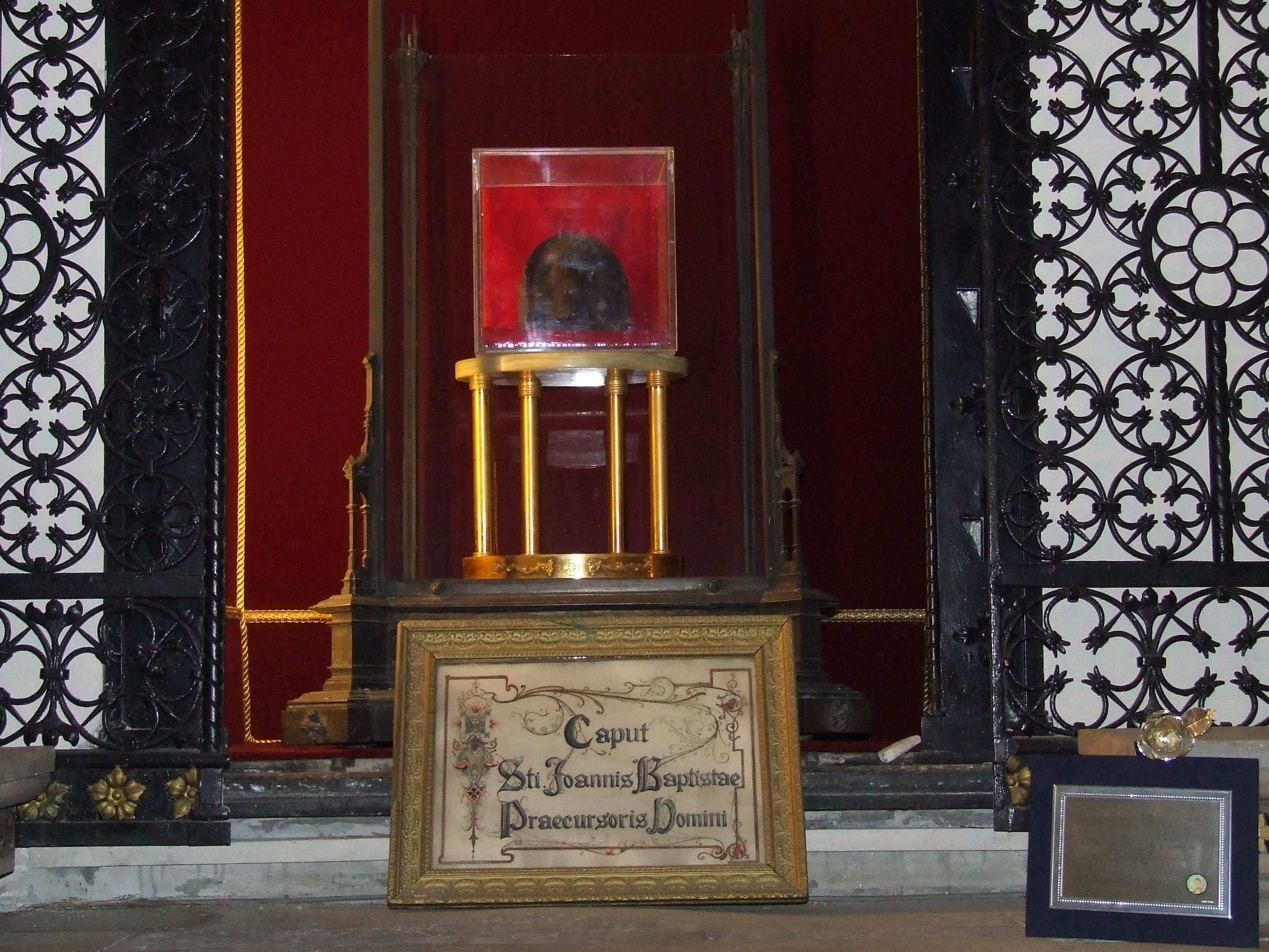 la testa di San Giovanni Battista San Silvestro in Capite