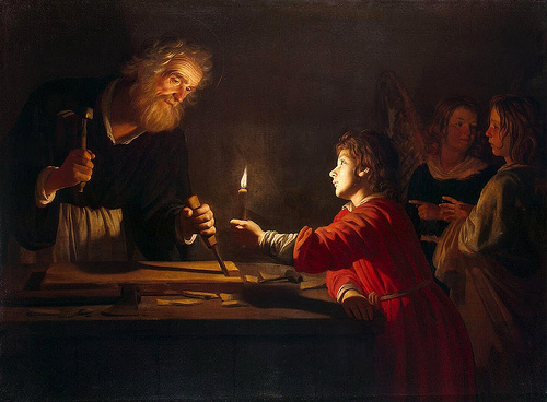 Childhood of Christ Gerrit van Honthorost
