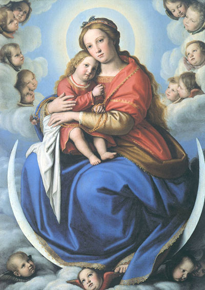 La Madonna. E molti dipinti sulla Natività da Samael. Sassoferrato_Madonna